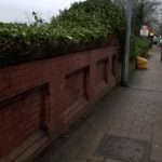 Worked has commenced on bushes at Urmston Station
